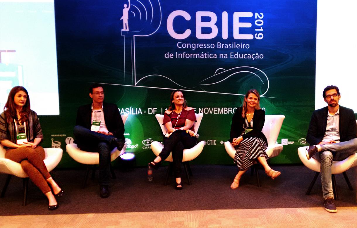 Equipe do projeto Guia de Evidências Educacionais no Congresso Brasileiro de Informática na Educação